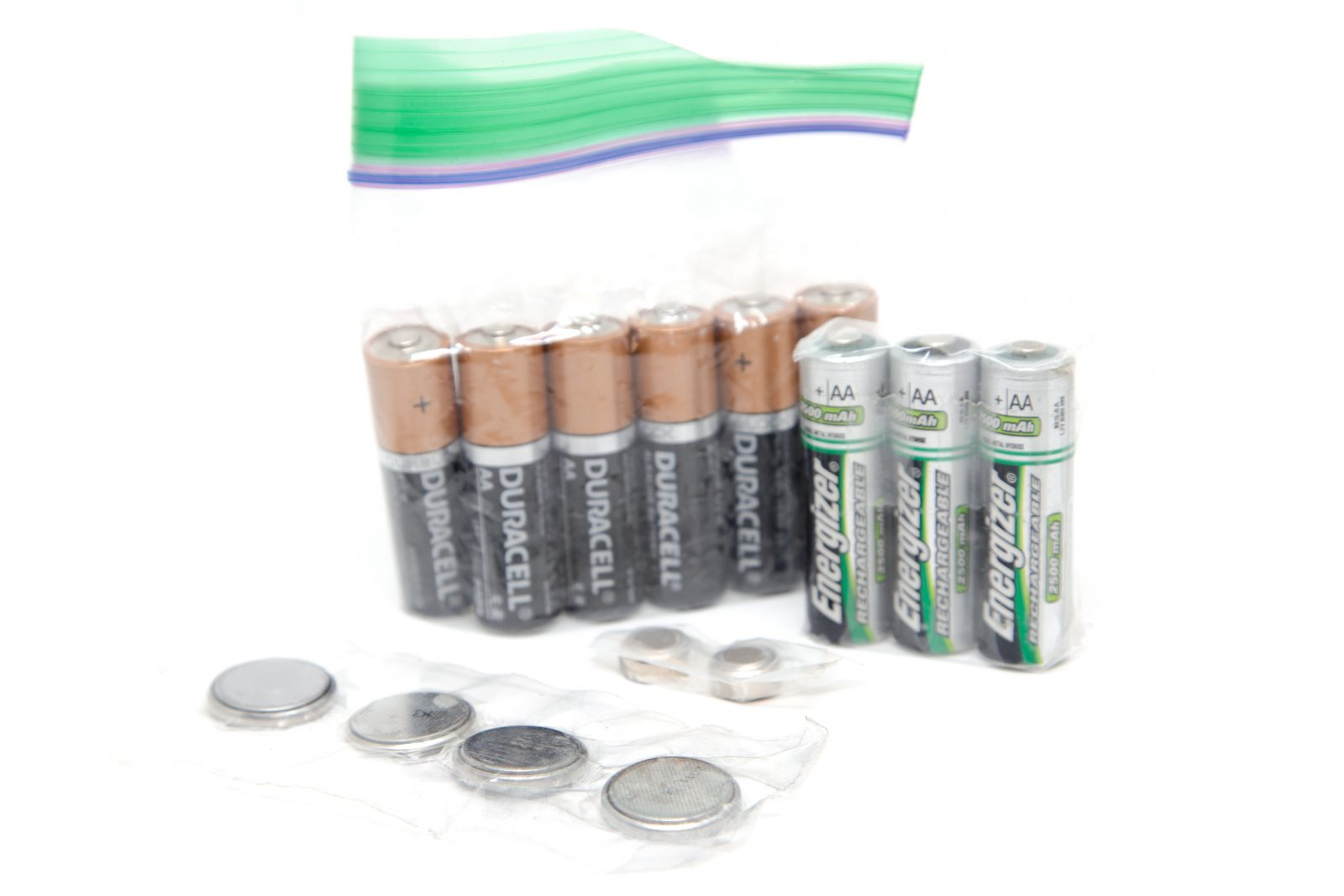 Batteries sealed for recycling