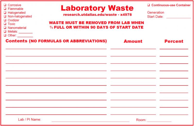 Laboratory Waste Form