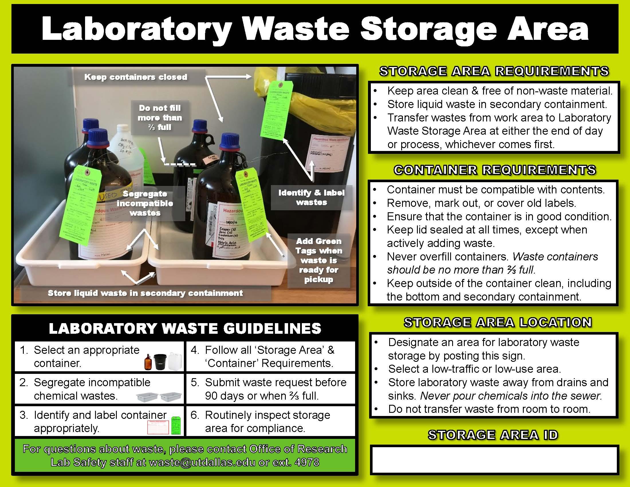 Hazardous Waste Ut Dallas Research