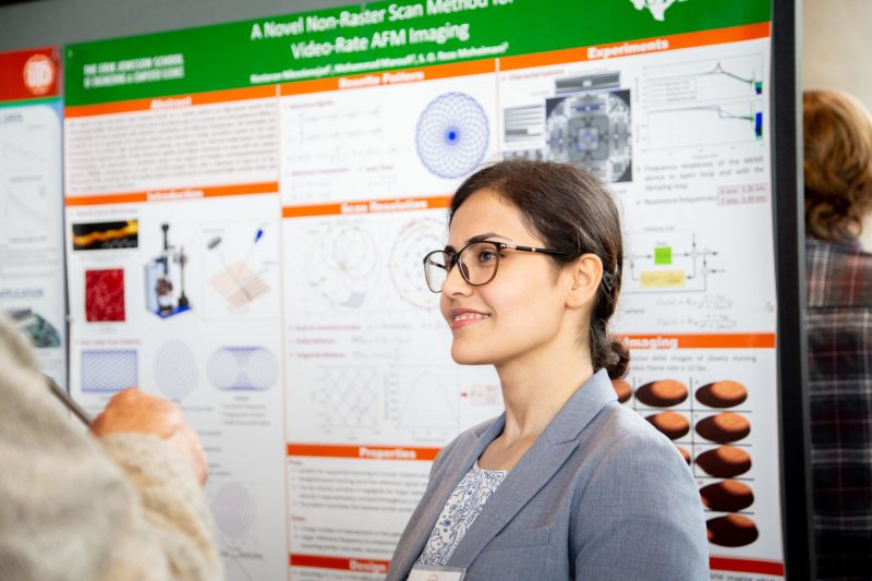 PhD candidate in Electrical Engineering, Nastaran Nikooienejad presents her research at the Spring 2019 Poster Competition.